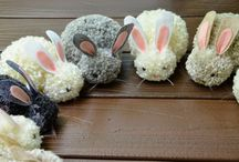 Bunny Crafts for Spring & Easter / Oh my, I simply ADORE bunny crafts and could make them all day.. well almost. But if you are as mad about rabbits and bunnies as we are, take a look at these fabulous Bunny Crafts. Perfect for Easter and Spring!! Woohoo!