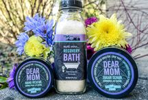 Dear Mom Formula / For all the stress I've caused you… and for not selling me off for medical experiments, I give you this lavender & vanilla scented formula, known to improve sense of well-being and soothe skin. Terrific as a body scrub, foot soak and in vaporizers, too!