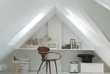 Zolder / We are no 'bob the builders'and do have the plan to rebuild the attic ourself. With these ideas we think it will work out fine!