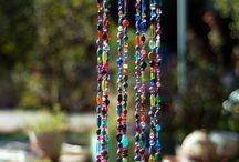 Wind chimes and suncatchers