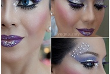 Rhinestone and glitter makeup / all about bling