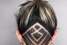 рисунок бритвой на голове