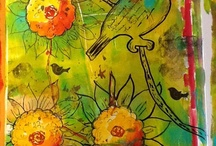 Art - Gelli Prints / see also Art - Mix Media. Collage and Art Journals 1, 2 and 3