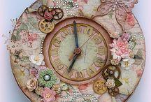 zegary decupage