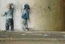 Street Art, Sidewalk Art, Graffiti and Tattoos / by Miranda Madison