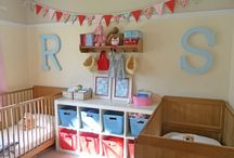 Girls room / Toddler and baby room share