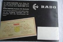 1960 Rado Watch Booklet German