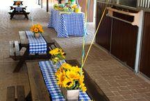 Pony 1st Birthday Party / First Birthday Party Styled by www.debbiekennedyevents.com. Printables by www.squarepartyprintables.com, Venue: www.jubileeponies.com