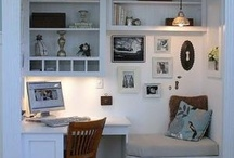 Office nook / Design ideas for creating an office space, without taking up a lot of it!