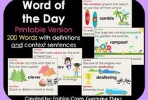 Word of the Day / Daily vocabulary building posters