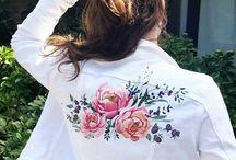 ( wedding ) Denim jacket      handpainted by                    @_Takeyouraim
