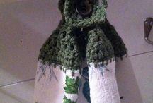 crocheted household items