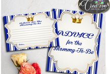 Baby Shower Boy Games Royal Blue Gold Little Prince, Invitations, Decorations and more... / Hi, thank you for visiting this beautiful baby shower board with royal blue little prince theme. Here you can find a lot of baby shower decorations and activities with over 40 listings in this theme.