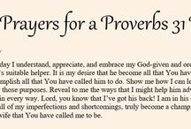 31-days of Prayer for our Husbands / 31 Prayers, one taken from each of 31 devotionals - The Path to Becoming a Proverbs 31 Wife