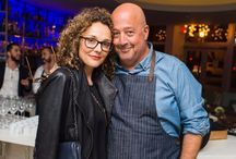 Bizarre Foods' Andrew Zimmern's wife and son / Bizarre Foods' Andrew Zimmern has been a bit secretive about his family. He has a beautiful wife and a cute little son.