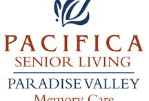 Pacifica Senior Living Paradise Valley / Situated in vibrant Phoenix, Arizona, our Pacifica Senior Living community offers full-service memory care programs, providing a warm, inviting and familiar environment for residents with Alzheimer's disease and other forms of dementia. Our community focuses on programs that help individuals with memory loss to thrive while managing the issues of dementia.