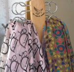 Scarf and Tie Holder / An innovative hanger to store and display all those precious silk fashion scarves.Could also be used for belts,ties or jewelry.There are 10x50mm holes attached to a lovely finished light timber panel.Very handy product!