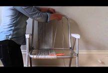 macrame em cadeiras