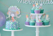 Meerjungfrauen Party / Kindergeburtstag, Mottoparty, Partydeko, Tischdeko, DIY-Ideen, Einladungen zum Kindergeburtstag, Kuchenrezepte