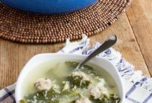 Soup Saturday / Cooking soups!  We love soup!