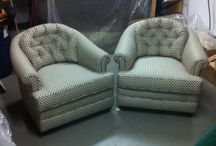 '76 Electro-Coil Tub Chairs.  / Original Electro-Coil Tub Chairs Before and After