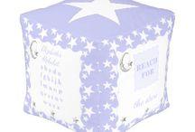 Zazzle ~ lilac stars and moon nursery decor