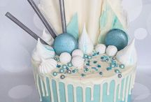 drip cakes and decorations