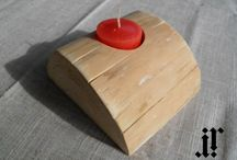 IR Wood / Wooden candle holders, Candle holders from wood