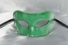 Green Masquerade Ball Masks / Green masks from Just Posh Masks. Choose your favourite green mask, with gold or silver trim