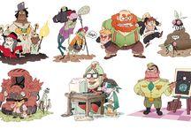 character design cartoon monstre