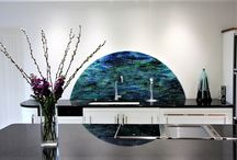 Home Interior Inspiration / Inspiring ideas for your home using stunning fused glass installations to add that unique touch