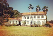 Hotél Fazenda - Minas Gerais / A Fazenda, em estilo colonial, era puro charme. A casa grande abrigava o restaurante, onde todas as refeições eram servidas num sistema all inclusive pra lá de especial. #voali