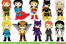 super heroes girl