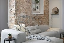 Brick wall slaapkamer