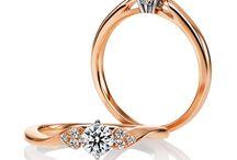 Pink Gold 婚約指輪 結婚指輪