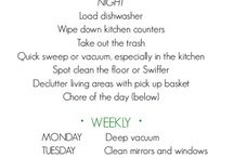 Cleaning and organization / by Andee Kyelberg