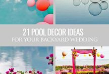Pool wedding party