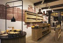 Second Old Amsterdam Cheese Store,Flower Market Amsterdam - retail design / Since 2012 studiomfd repeatedly creates designs for Old Amsterdam, the world famous aged cheese from Holland.  The flagship store on Dam Square now has a little sister. The location is again a popular and well-known spot, on the Singel near by the flower market.