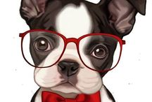Cute Dogs / A dog is the symbol of 2018!!  illustration of cute funny dogs are here