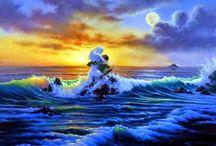 Jim Warren pinta sonhos e ilusões de maneira fantástica.