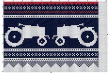 marius med traktor / strikkegenser
