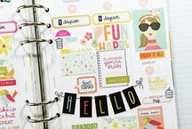 Clearly Planned / Taylored Expressions released a line of clear stamps that fit most planners. Clearly Planned includes clear stamps, sticky notes, list-makers, and fun shapes and images.