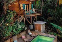 Bali style garden