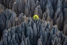 Tsingy de Bemaraha / Les Tsingy de Bemaraha à Madagascar ont été déclaré site du patrimoine mondial de l'Unesco en 1990