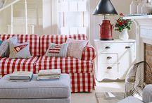 Gingham sofa