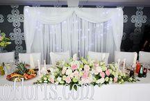 Ślubna dekoracja sali -wesele / Elementy dekoracji sali przyjęć.