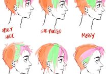 Anime hair ideas (male)