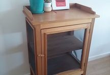 Side table liquor cabinet