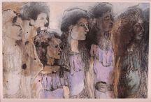 Mari Gyorgyey / Etching, Mixed Media, Painting