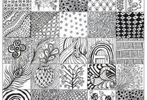 Zentangle,Patterns,Line